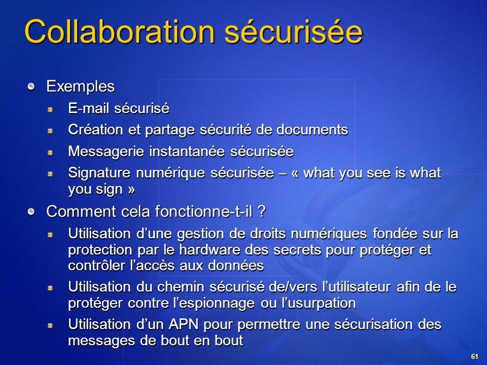 Collaboration sécurisée