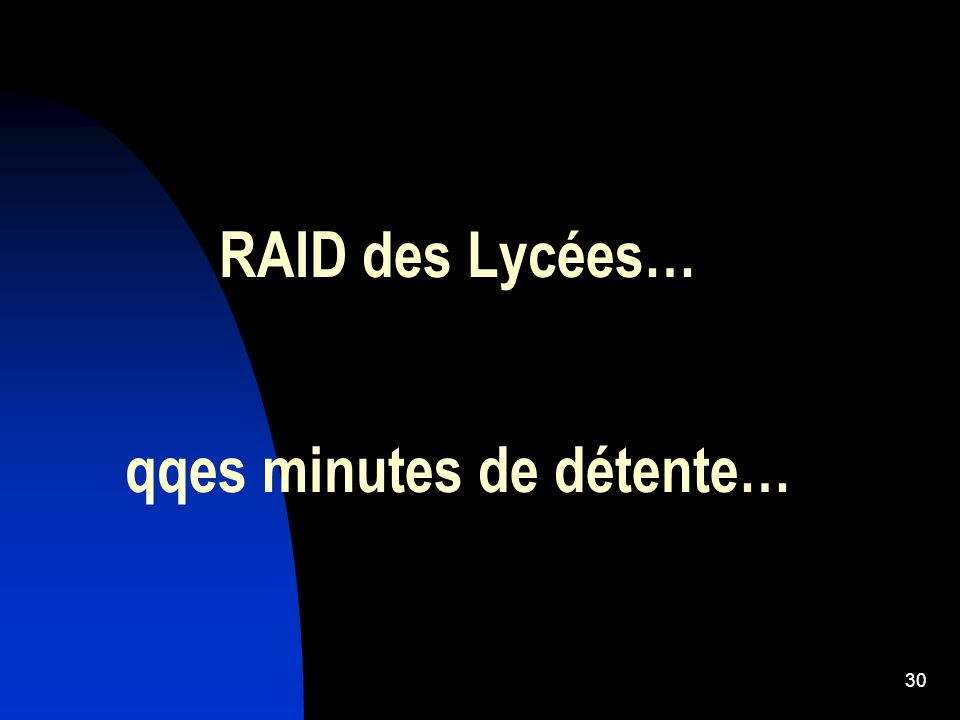 RAID des Lycées… qqes minutes de détente…
