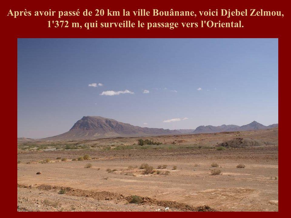 Après avoir passé de 20 km la ville Bouânane, voici Djebel Zelmou, 1 372 m, qui surveille le passage vers l Oriental.