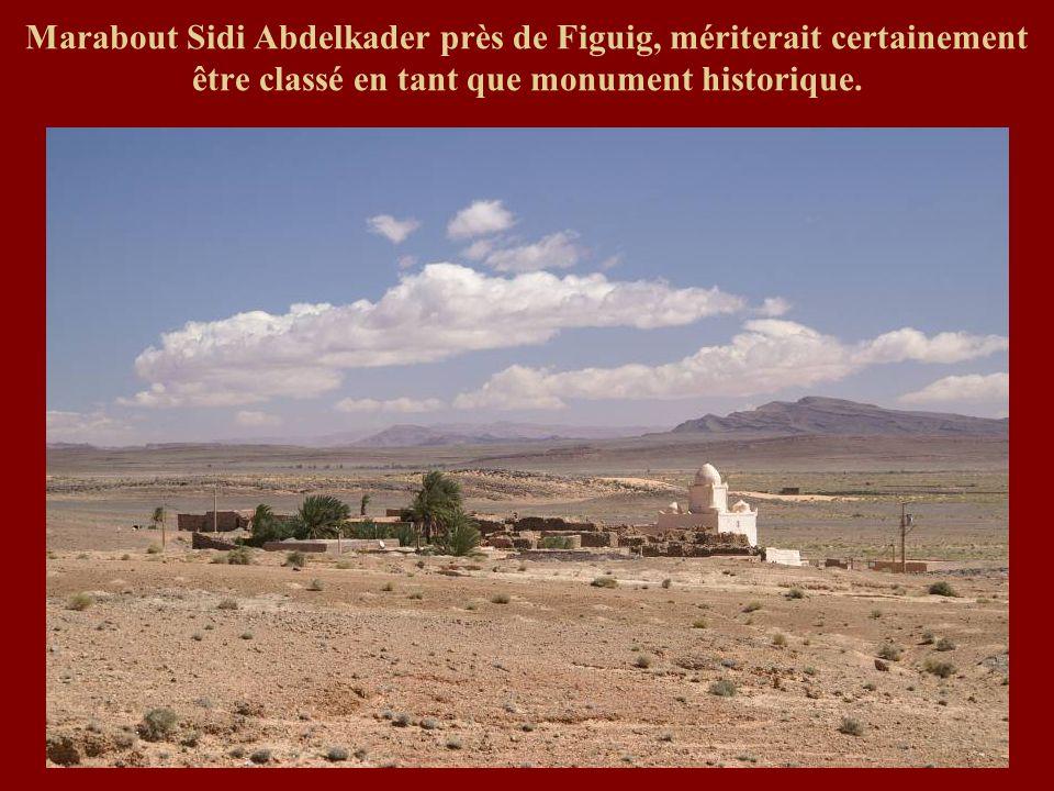 Marabout Sidi Abdelkader près de Figuig, mériterait certainement être classé en tant que monument historique.