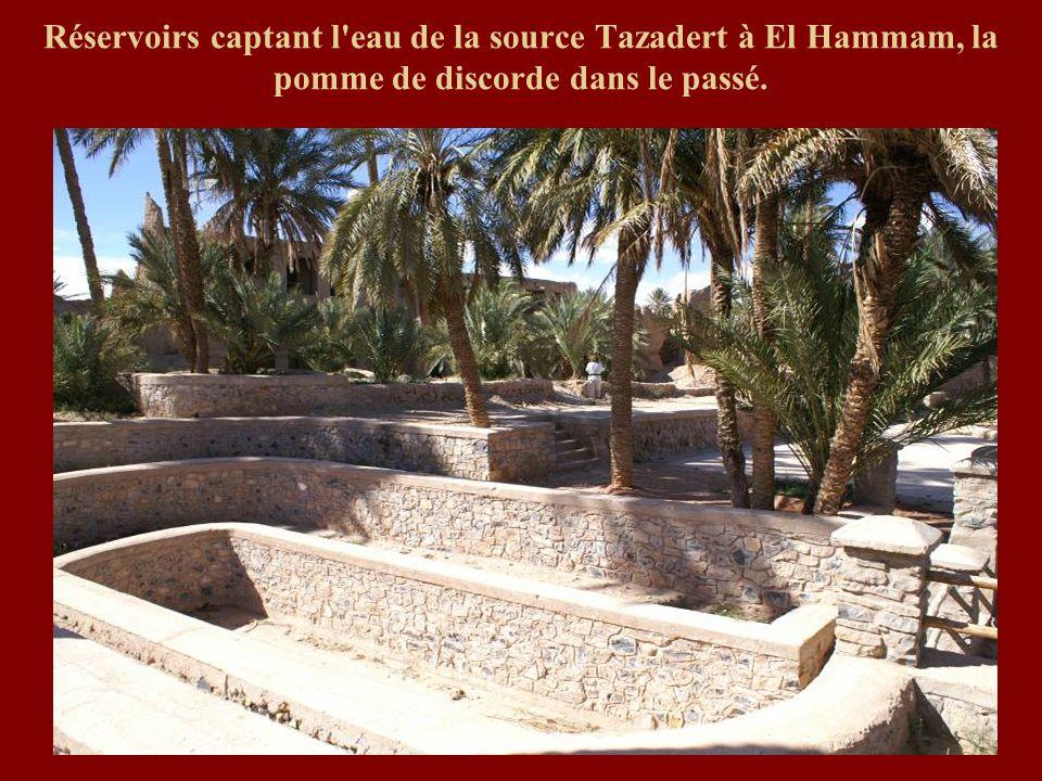 Réservoirs captant l eau de la source Tazadert à El Hammam, la pomme de discorde dans le passé.