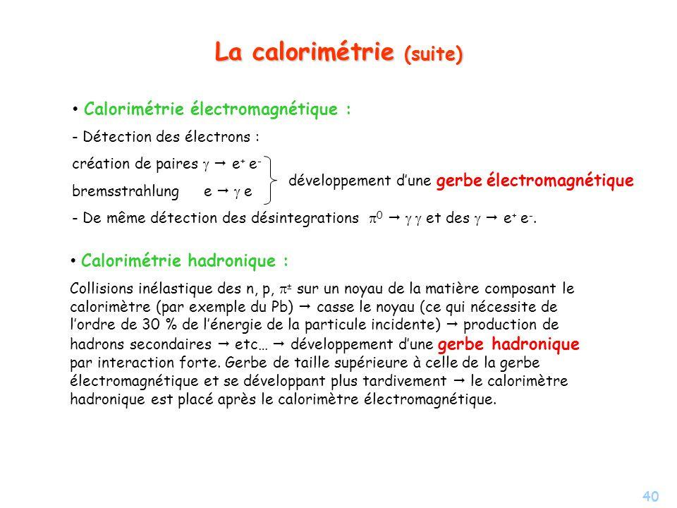 La calorimétrie (suite)