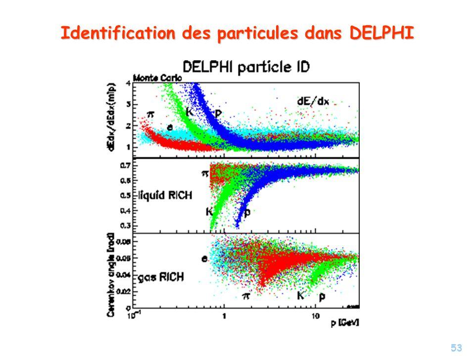 Identification des particules dans DELPHI