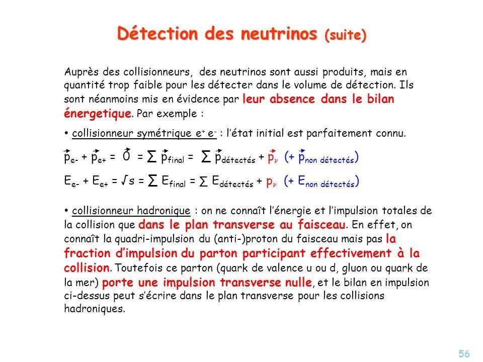 Détection des neutrinos (suite)