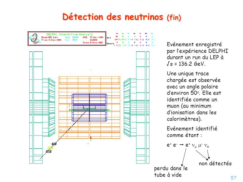 Détection des neutrinos (fin)