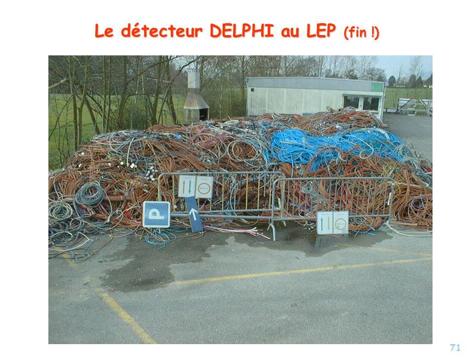 Le détecteur DELPHI au LEP (fin !)