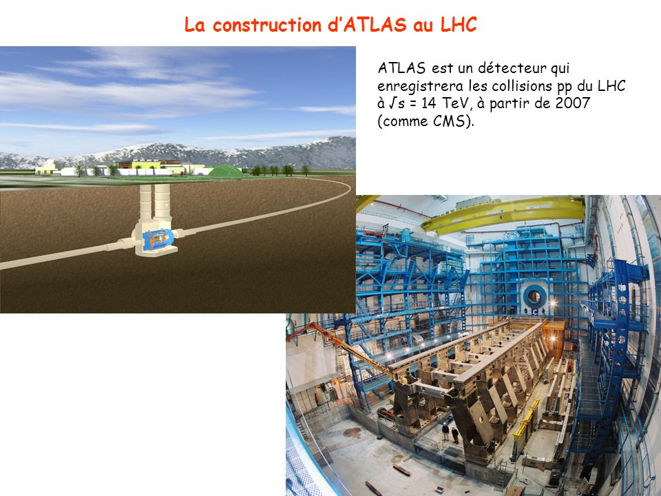La construction d'ATLAS au LHC