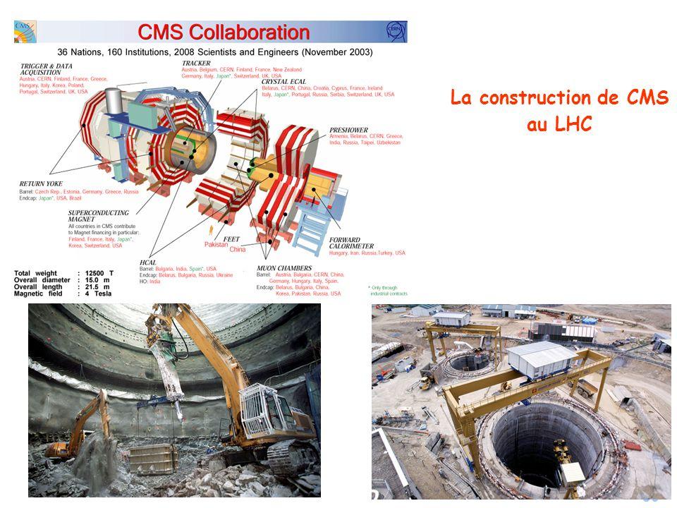 La construction de CMS au LHC