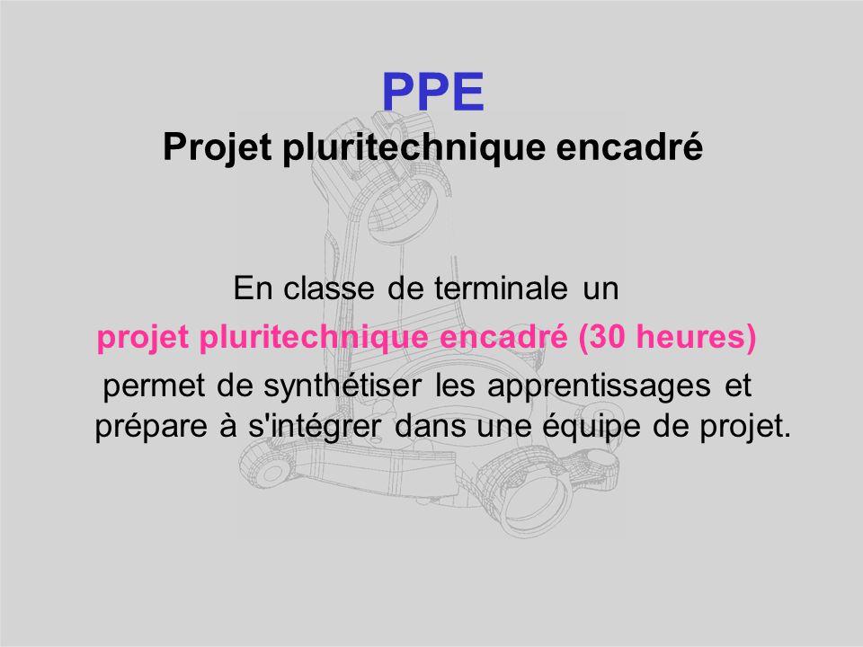 PPE Projet pluritechnique encadré