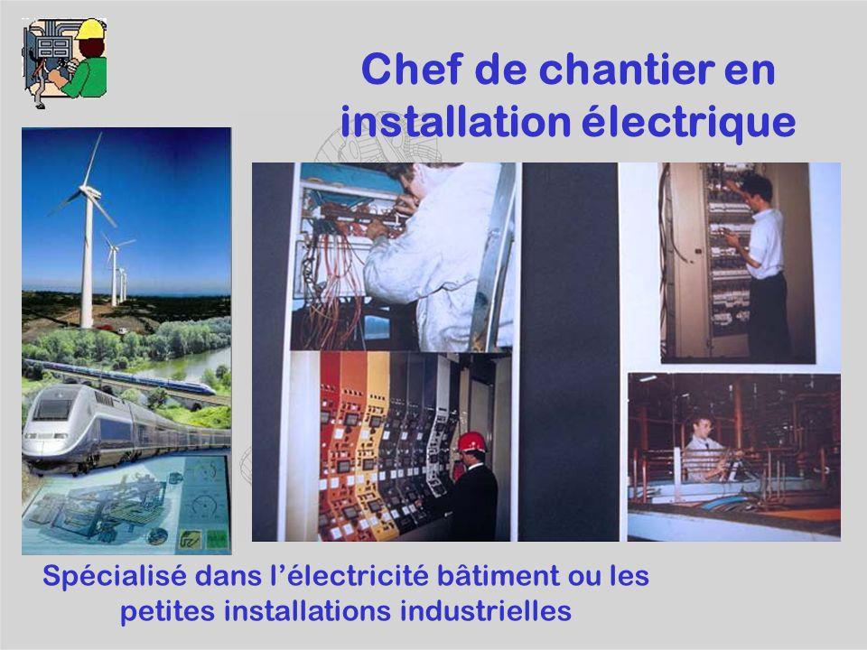 Chef de chantier en installation électrique
