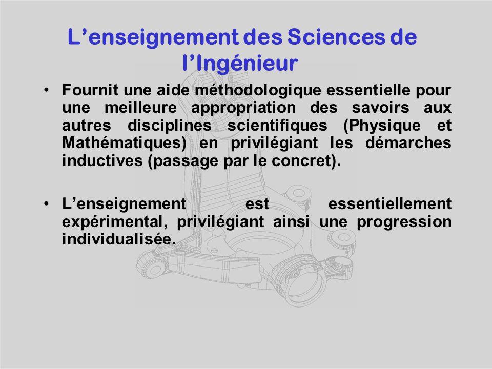 L'enseignement des Sciences de l'Ingénieur