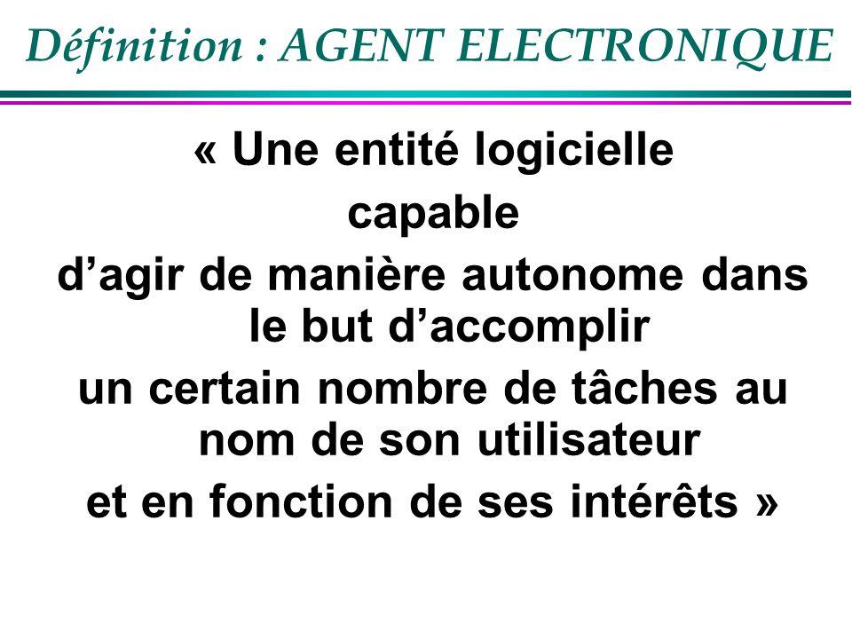 Définition : AGENT ELECTRONIQUE