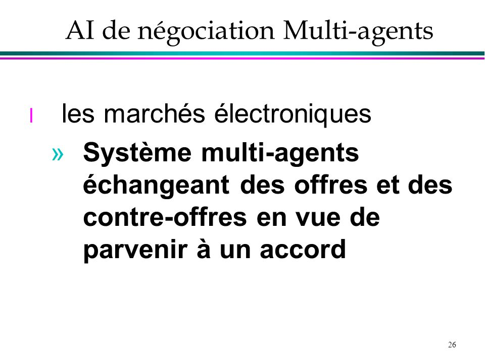 AI de négociation Multi-agents