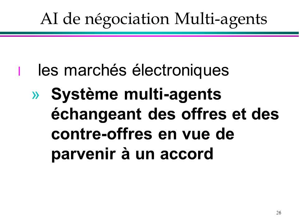 AI de négociation Multi-agents