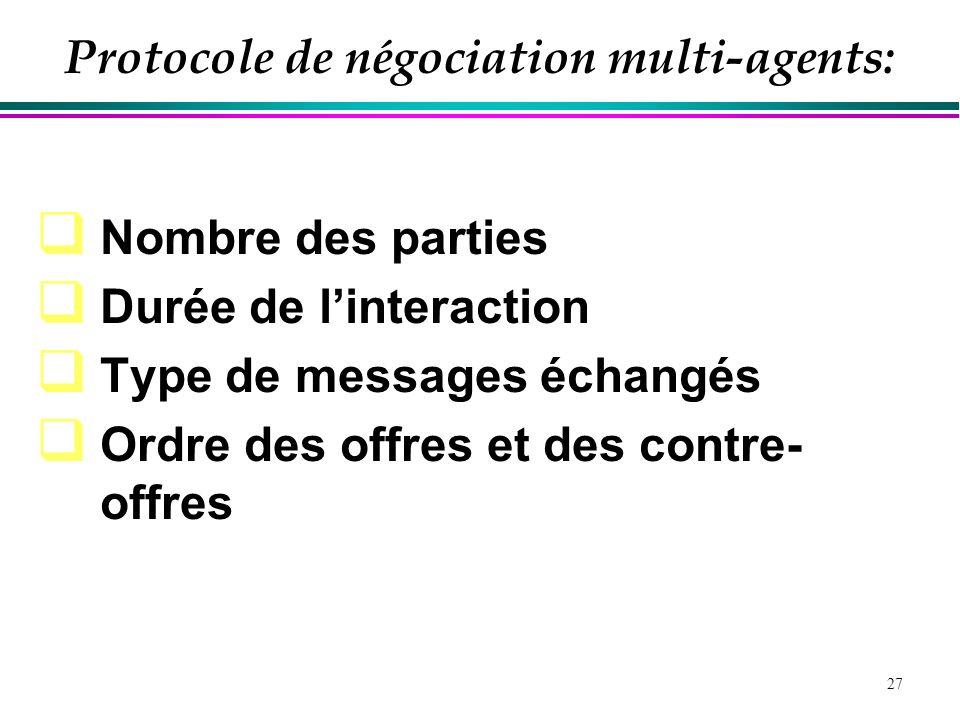 Protocole de négociation multi-agents: