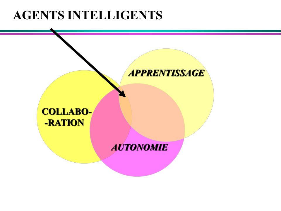 AGENTS INTELLIGENTS APPRENTISSAGE COLLABO- -RATION AUTONOMIE