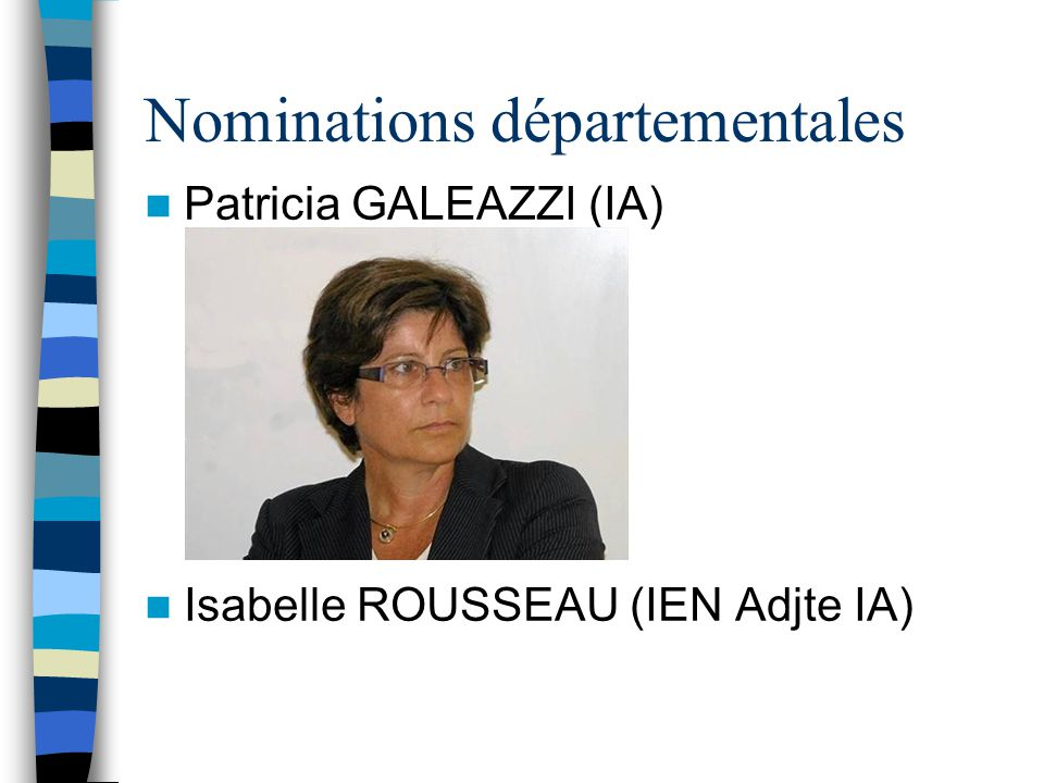 Nominations départementales