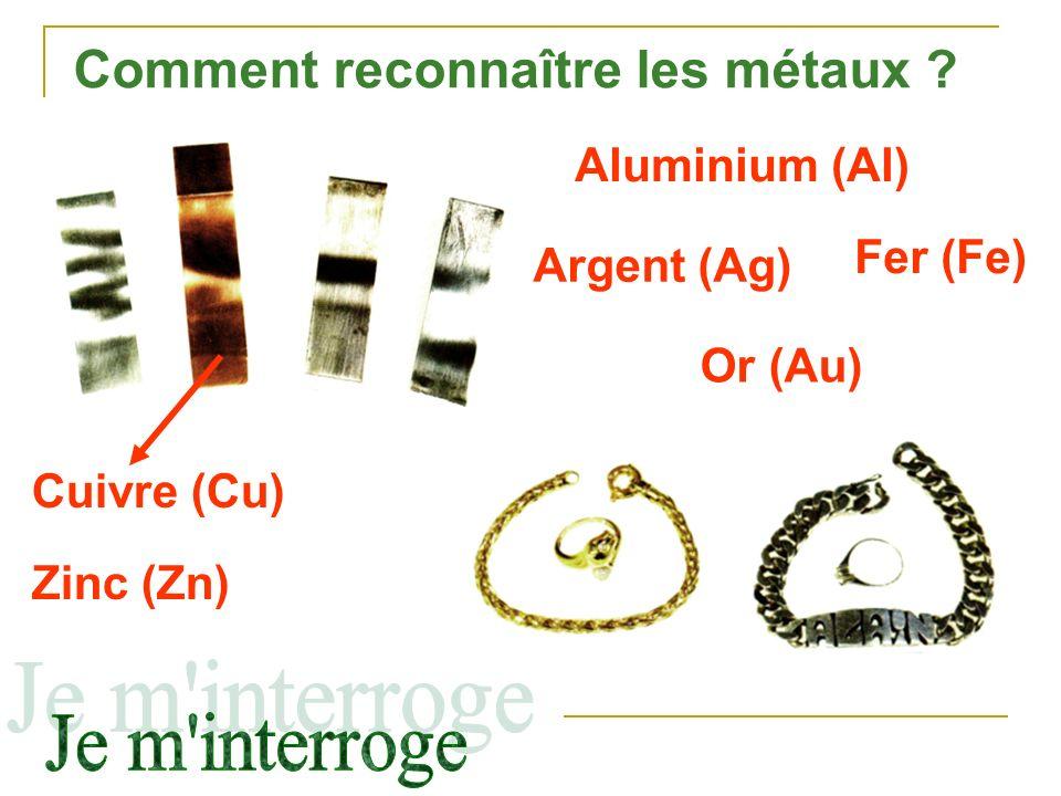 Comment reconnaître les métaux
