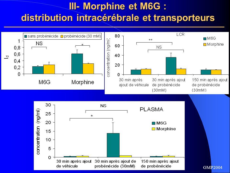 distribution intracérébrale et transporteurs