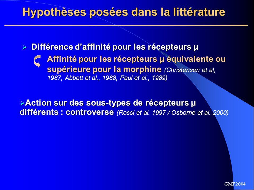 Hypothèses posées dans la littérature