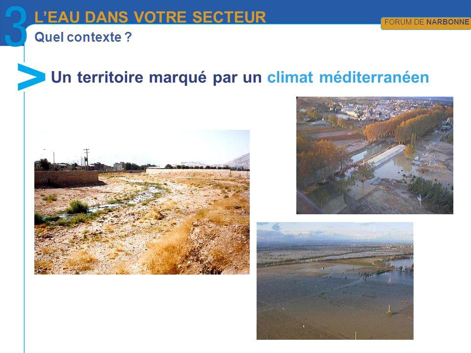 Un territoire marqué par un climat méditerranéen