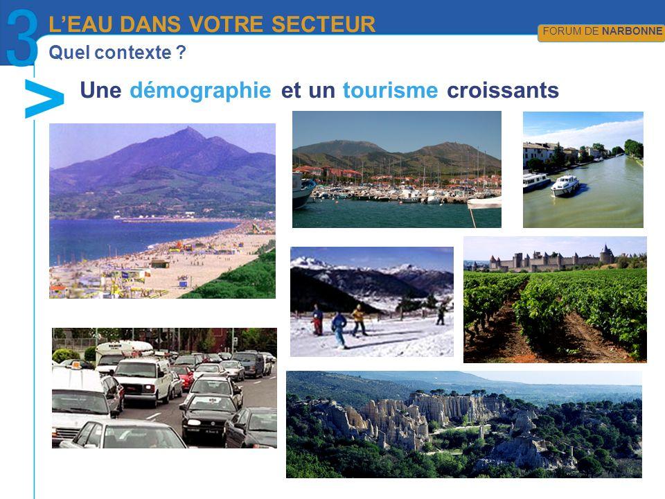 Une démographie et un tourisme croissants