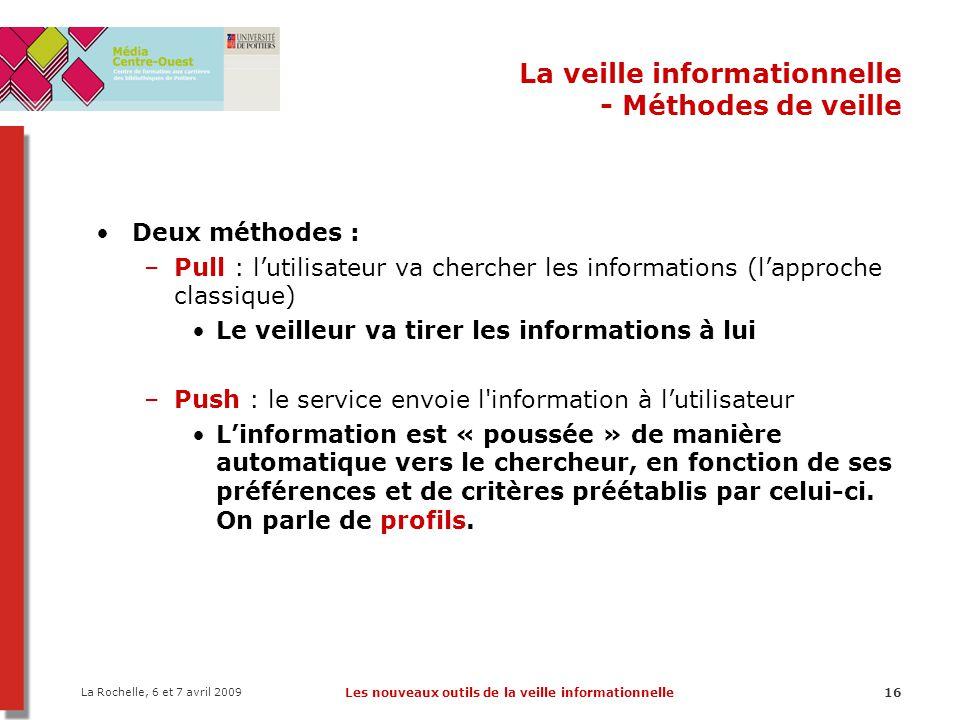 La veille informationnelle - Méthodes de veille