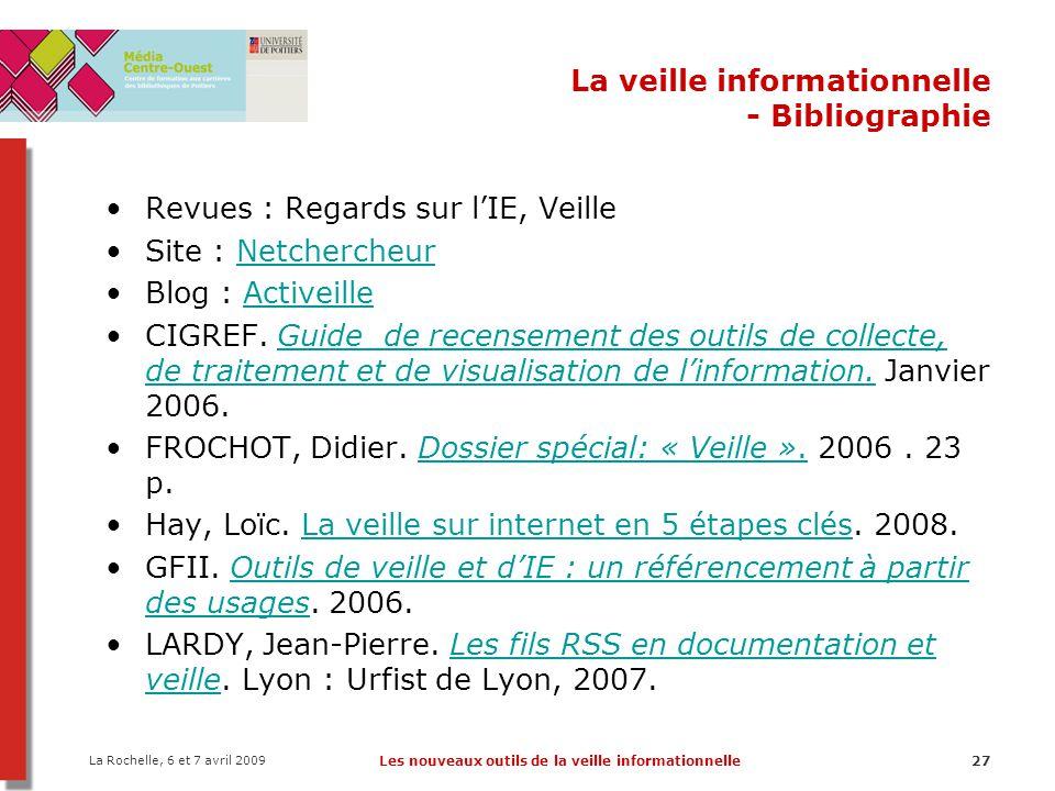 La veille informationnelle - Bibliographie