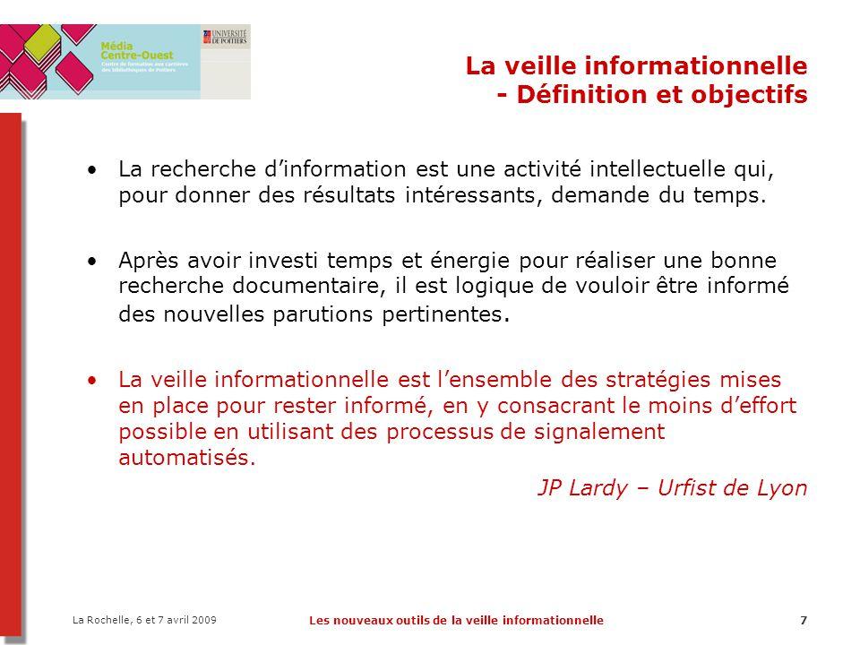 La veille informationnelle - Définition et objectifs