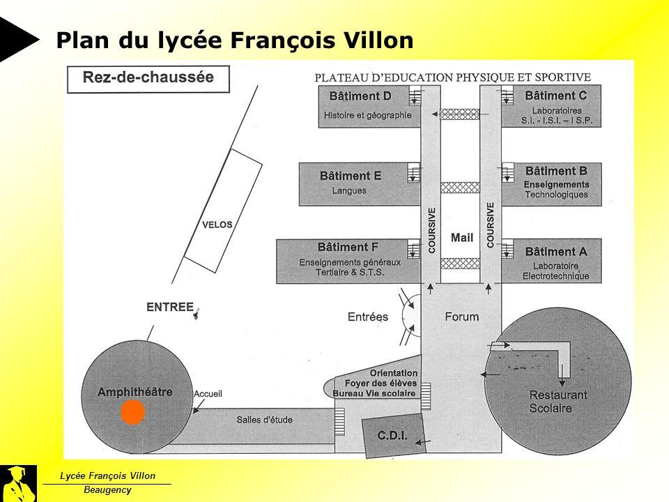 Plan du lycée François Villon