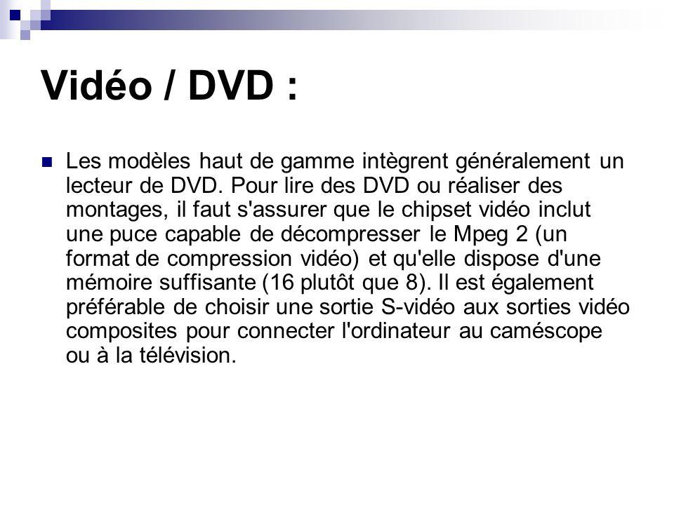 Vidéo / DVD :