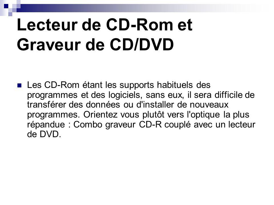 Lecteur de CD-Rom et Graveur de CD/DVD