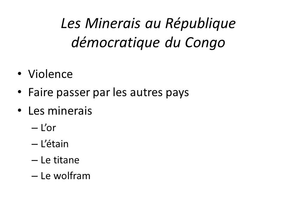 Les Minerais au République démocratique du Congo
