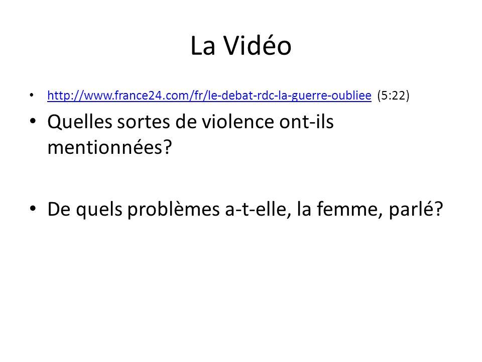 La Vidéo Quelles sortes de violence ont-ils mentionnées