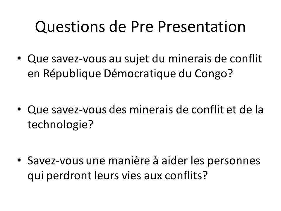 Questions de Pre Presentation