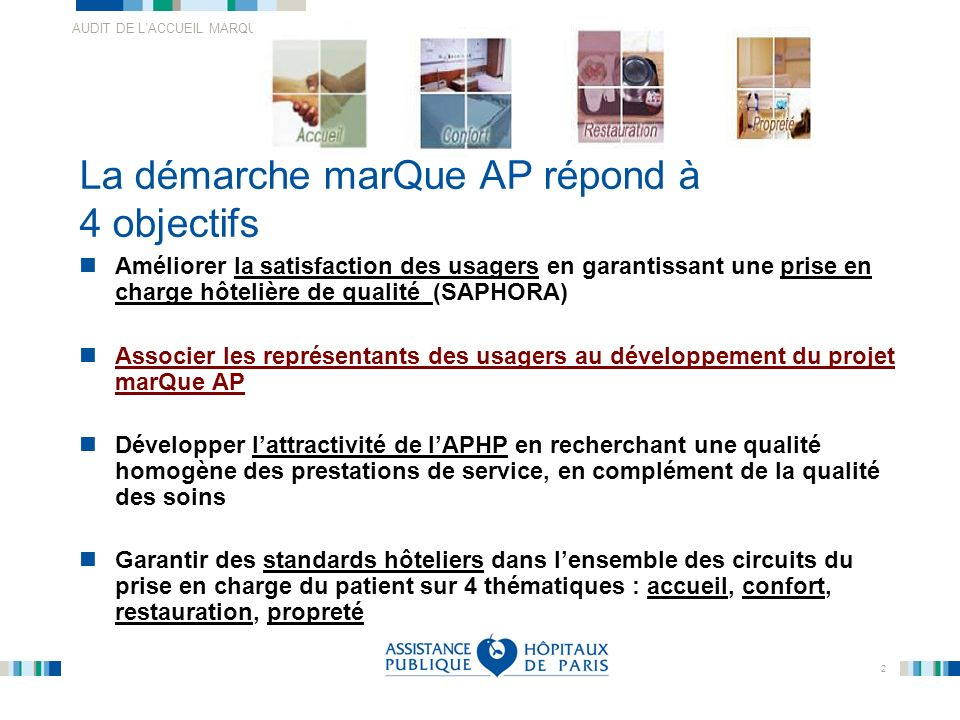 La démarche marQue AP répond à 4 objectifs
