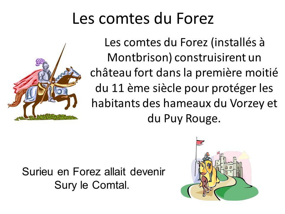 Surieu en Forez allait devenir Sury le Comtal.