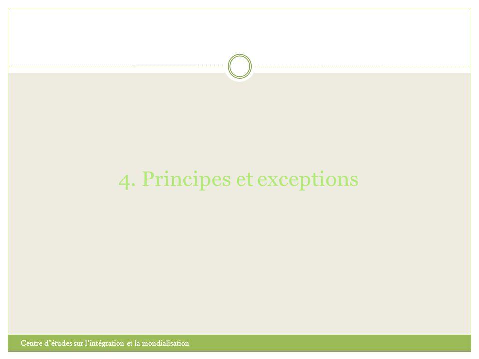 4. Principes et exceptions