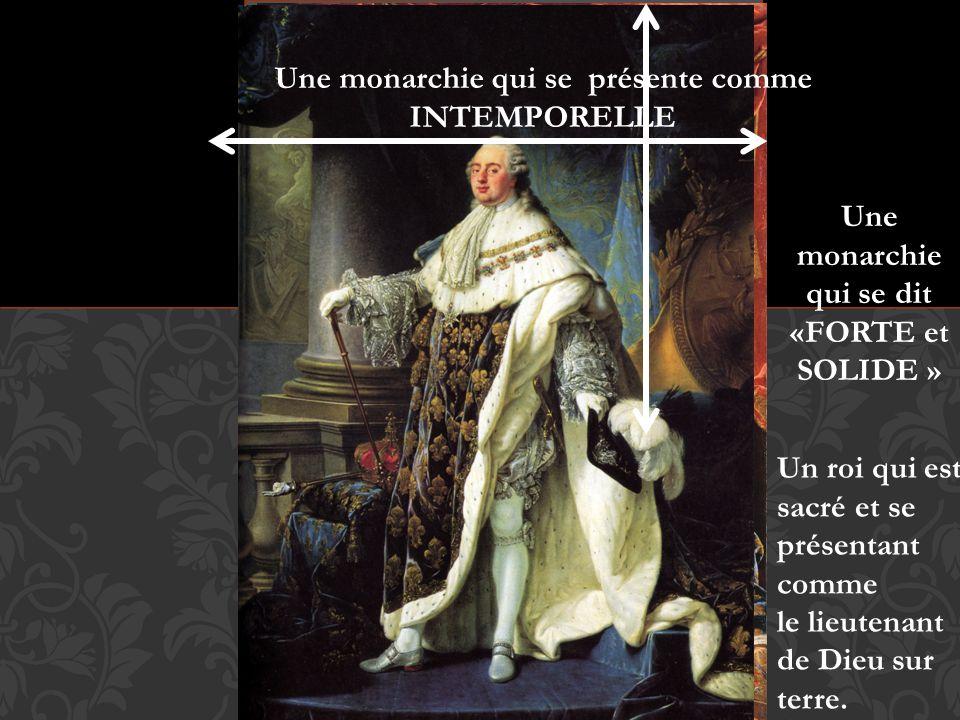 Une monarchie qui se présente comme INTEMPORELLE