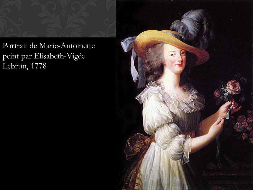 Portrait de Marie-Antoinette peint par Elisabeth-Vigée Lebrun, 1778