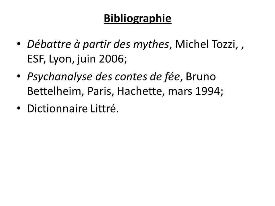 Bibliographie Débattre à partir des mythes, Michel Tozzi, , ESF, Lyon, juin 2006;