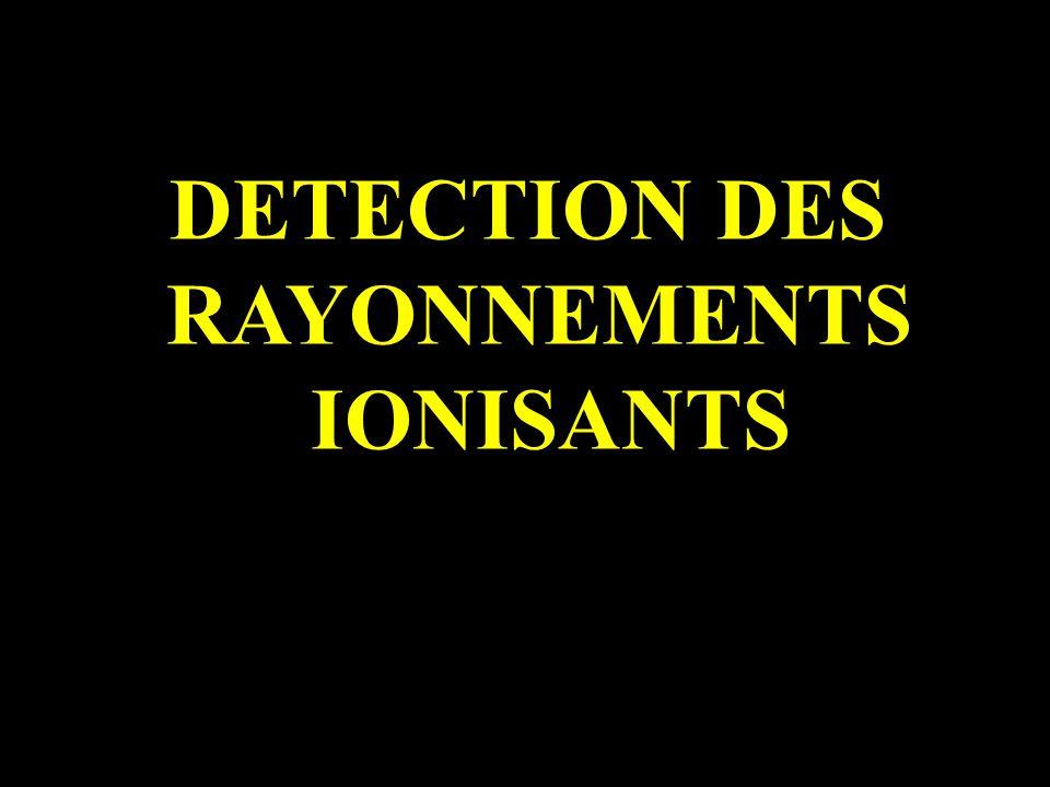 DETECTION DES RAYONNEMENTS