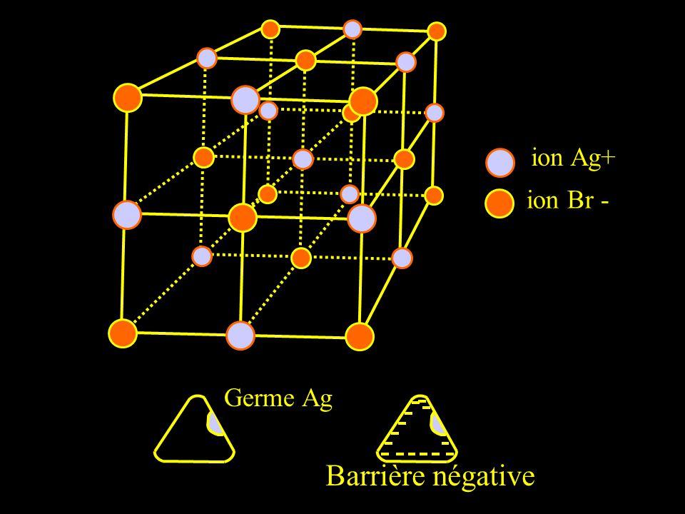 ion Ag+ ion Br - Germe Ag Barrière négative
