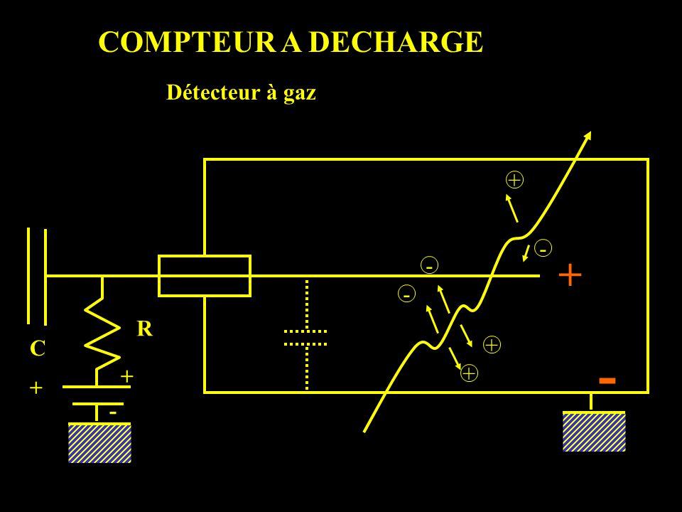 COMPTEUR A DECHARGE Détecteur à gaz + - + - - R C + - + + + -