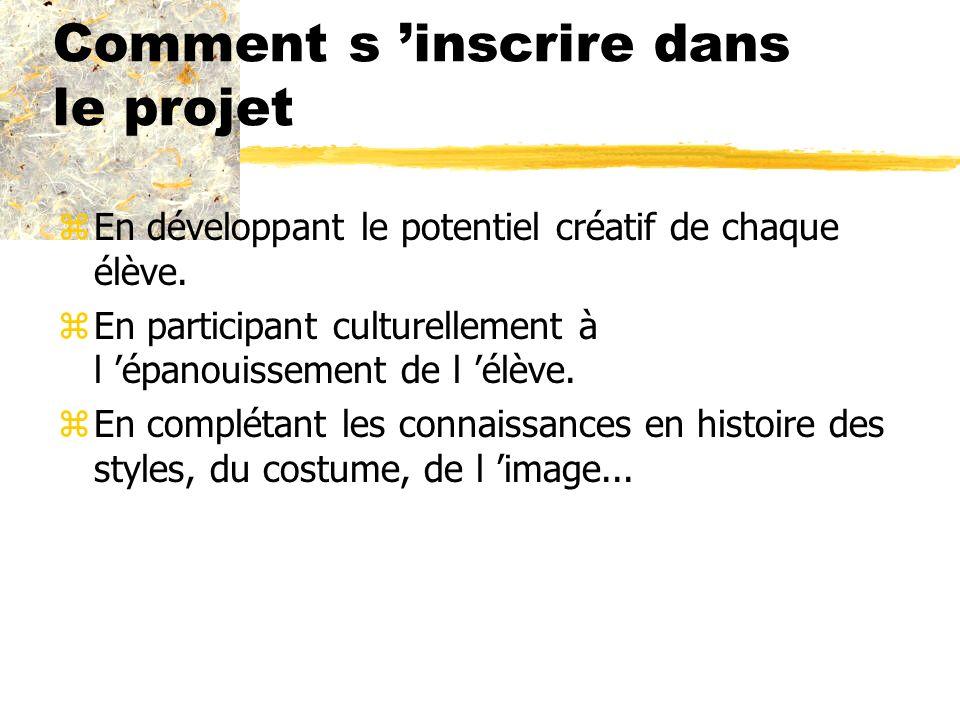 Comment s 'inscrire dans le projet