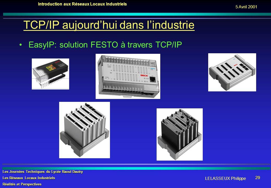 TCP/IP aujourd'hui dans l'industrie