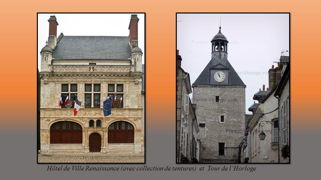 Hôtel de Ville Renaissance (avec collection de tentures) et Tour de l'Horloge
