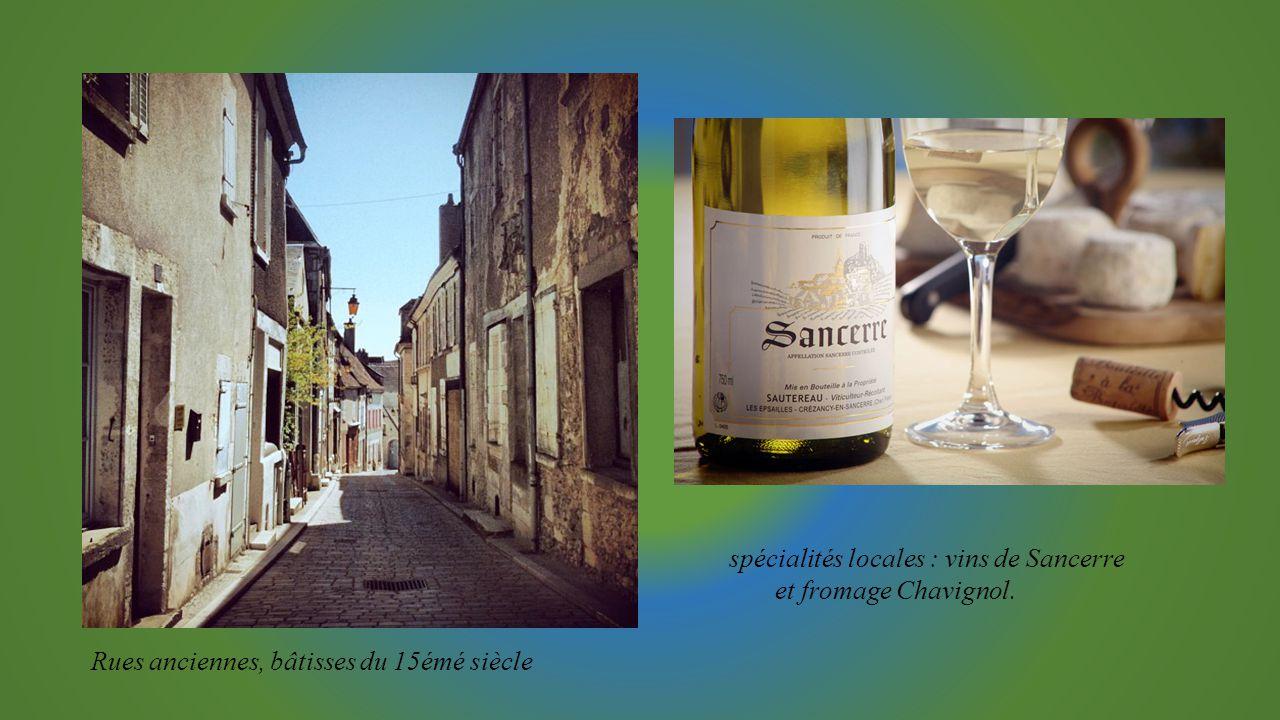 spécialités locales : vins de Sancerre