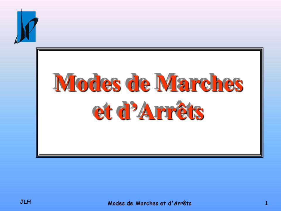 Modes de Marches et d'Arrêts Modes de Marches et d Arrêts