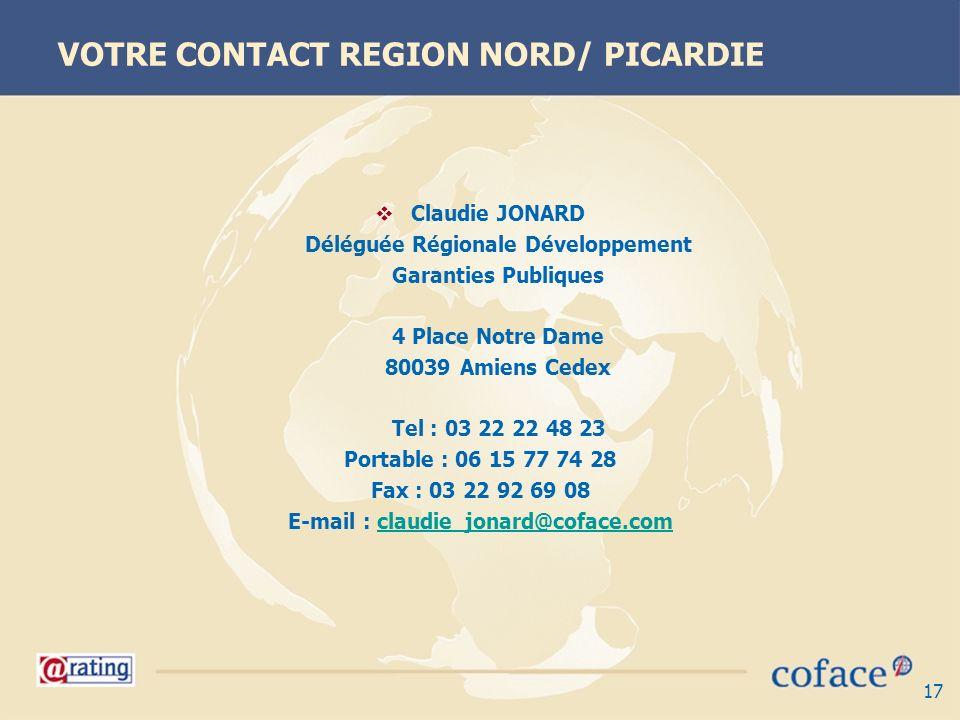VOTRE CONTACT REGION NORD/ PICARDIE